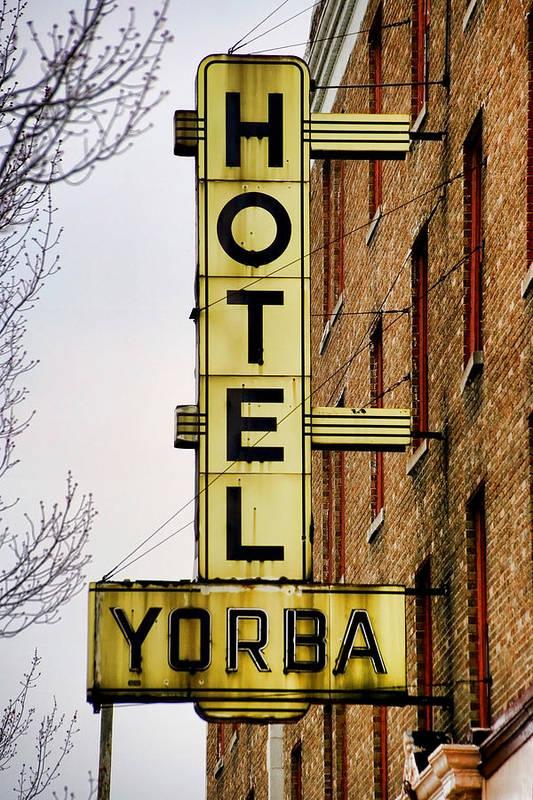Hotel Yorba Print featuring the photograph Hotel Yorba by Gordon Dean II