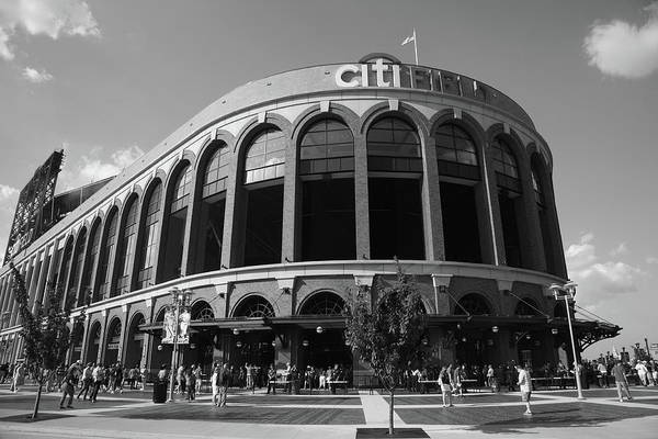Arch Print featuring the photograph Citi Field - New York Mets by Frank Romeo