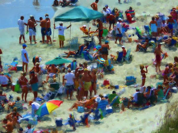 Beach Print featuring the photograph A Day At The Beach by Jeff Breiman