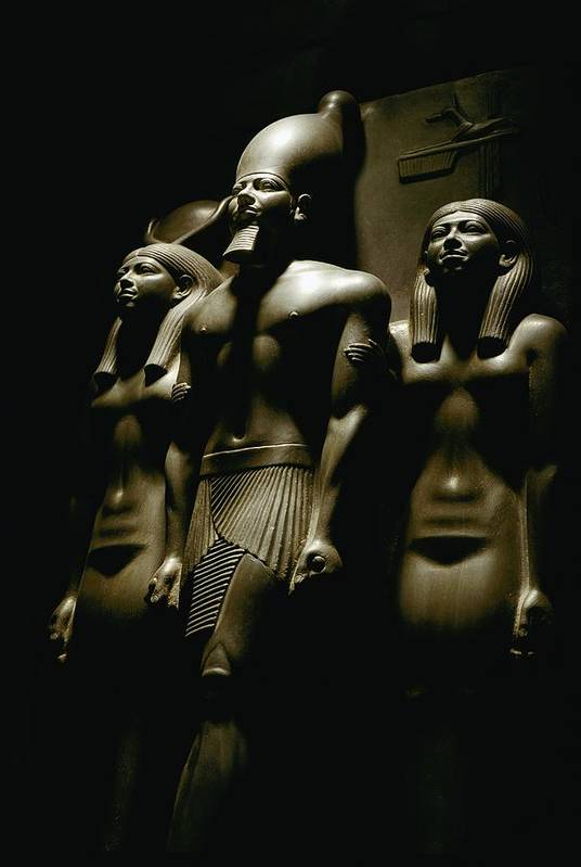 Dynasties Print featuring the photograph A Statue Of Pharoh Menkaura by Kenneth Garrett