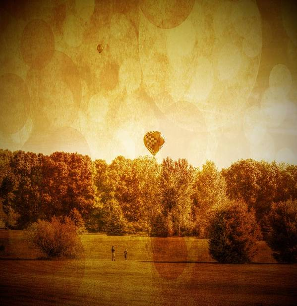 Balloon Print featuring the photograph Balloon Nostalgia by Michael Garyet