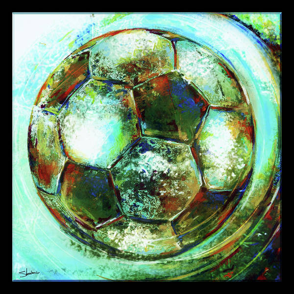 American Youth Soccer Organization Print featuring the mixed media Buckminster by Shevon Johnson