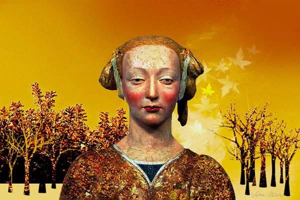 Portrait Print featuring the digital art Constance by Sabine Stetson