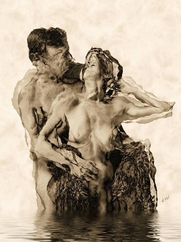 Lovers Print featuring the photograph Dance by Kurt Van Wagner