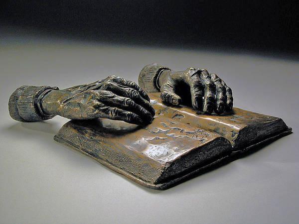 Original Figurative Sculpture Print featuring the sculpture Faith by Eduardo Gomez