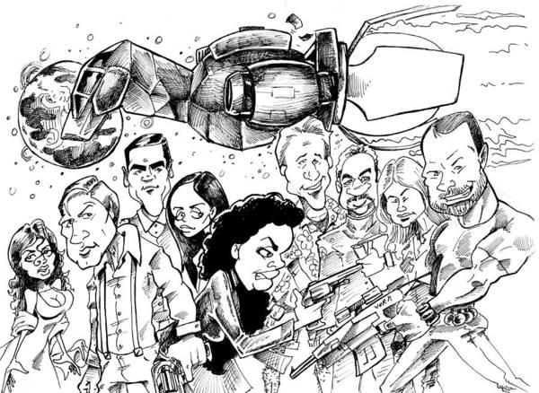 Firefly Print featuring the drawing Firefly by Big Mike Roate
