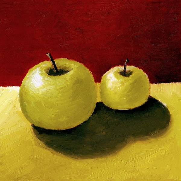 Apple Print featuring the painting Granny Smith Apples by Michelle Calkins