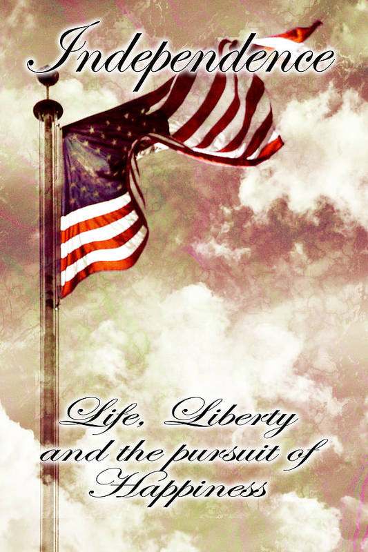4 Print featuring the digital art Independence Day Usa by Phill Petrovic