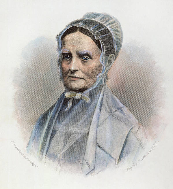 19th Century Print featuring the photograph Lucretia Coffin Mott by Granger