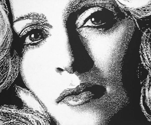 Portrait Print featuring the painting Madonna by Max Eberle