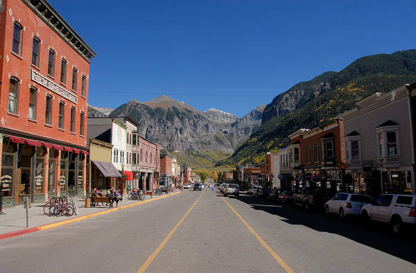 Fine Art Photography Print featuring the photograph Main Street Telluride by David Lee Thompson