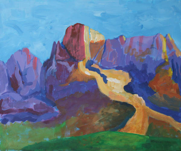 Landscape Print featuring the painting Mauve Catalina by Mordecai Colodner