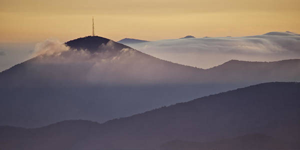 Parkway Print featuring the photograph Mount Pisgah In Morning Light - Blue Ridge Mountains by Rob Travis