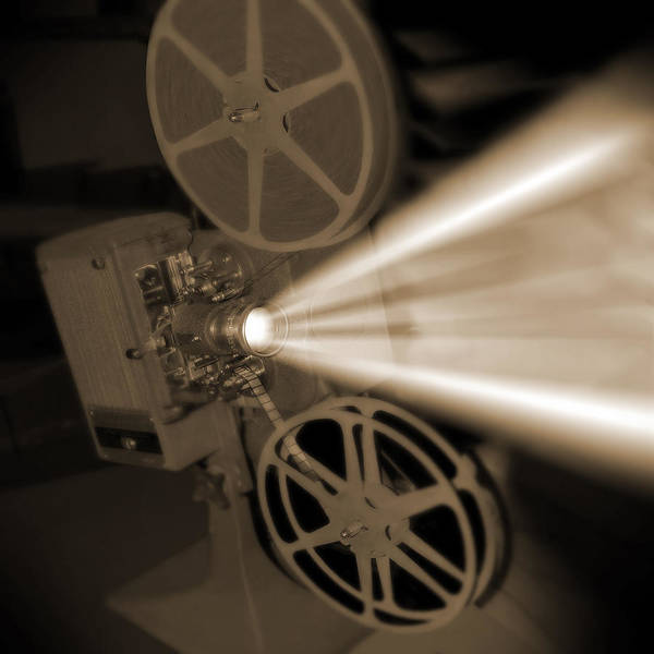 Vintage Print featuring the photograph Movie Projector by Mike McGlothlen