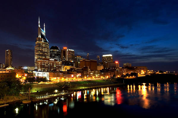 Nashville Print featuring the photograph Nashville Skyline by Mark Currier