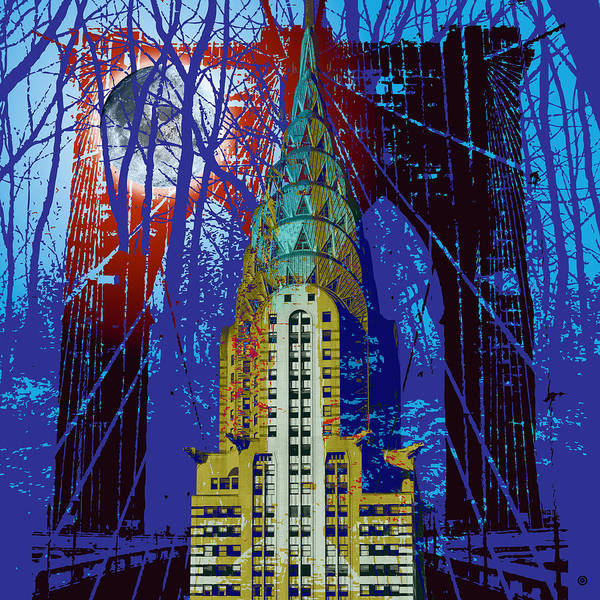 Modern Art Print featuring the digital art Nyc Icons by Gary Grayson