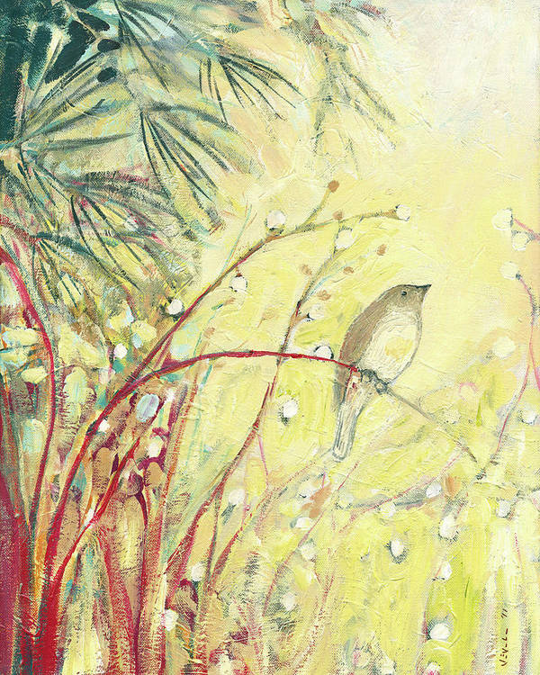 Bird Print featuring the painting Out On A Limb by Jennifer Lommers