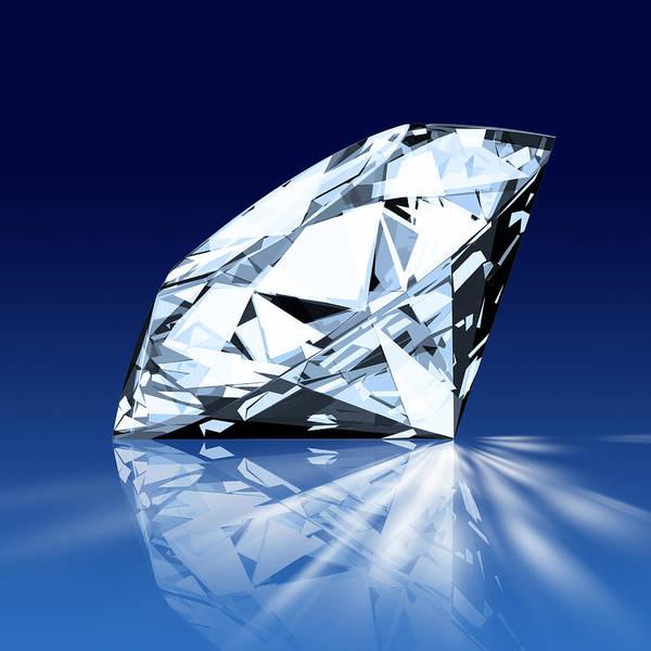 Background Print featuring the photograph Single Blue Diamond by Setsiri Silapasuwanchai