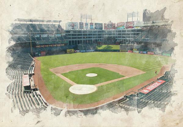 Texas Print featuring the photograph The Ballpark by Ricky Barnard
