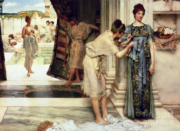 The Print featuring the painting The Frigidarium by Sir Lawrence Alma-Tadema