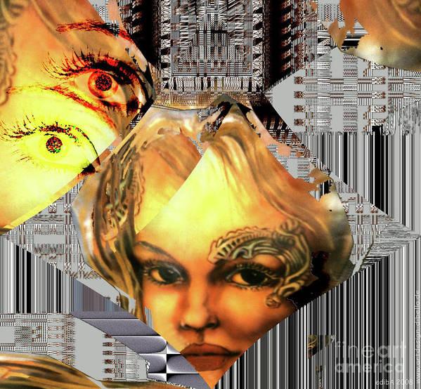 Airbrush Painting Print featuring the digital art The Next Generation Detail by Eva-Maria Di Bella