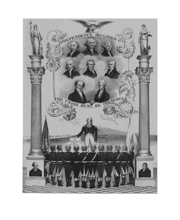 Us Presidents Print featuring the drawing The Union Must Be Preserved by War Is Hell Store