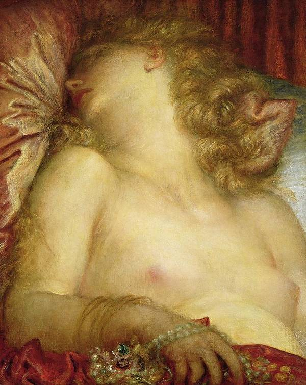 The Wife Of Plutus Print featuring the painting The Wife Of Plutus by George Frederic Watts