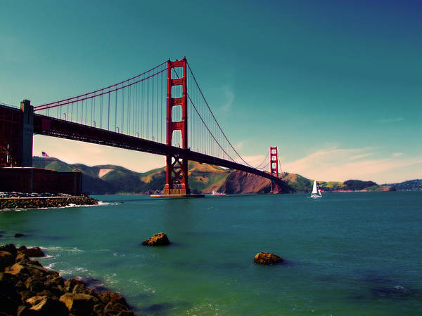 San Francisco Print featuring the photograph Vintage San Francisco by Niels Nielsen