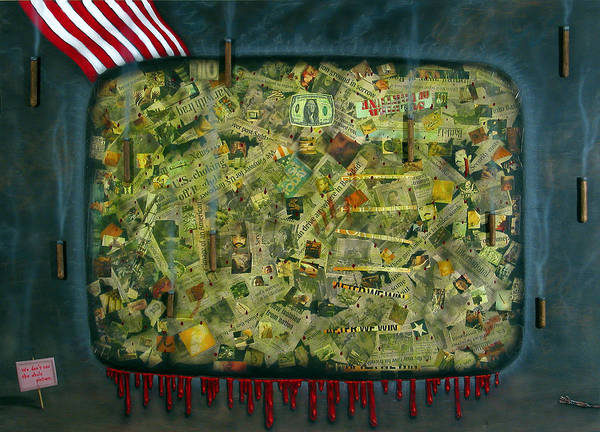 War Print featuring the painting We Don't See The Whole Picture by James W Johnson