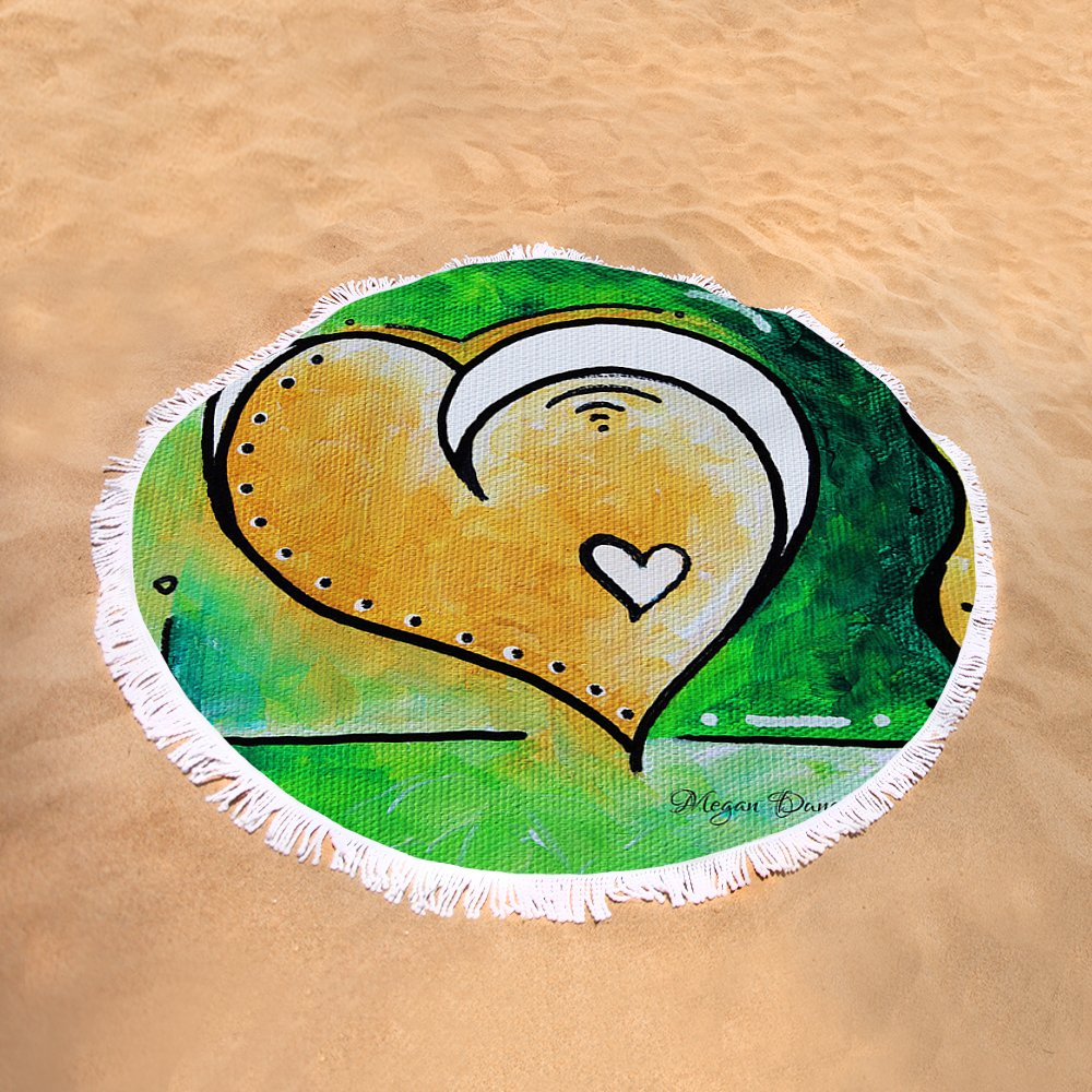 Green Yellow Heart Love Painting Pop Art Peace By Megan Duncanson ...