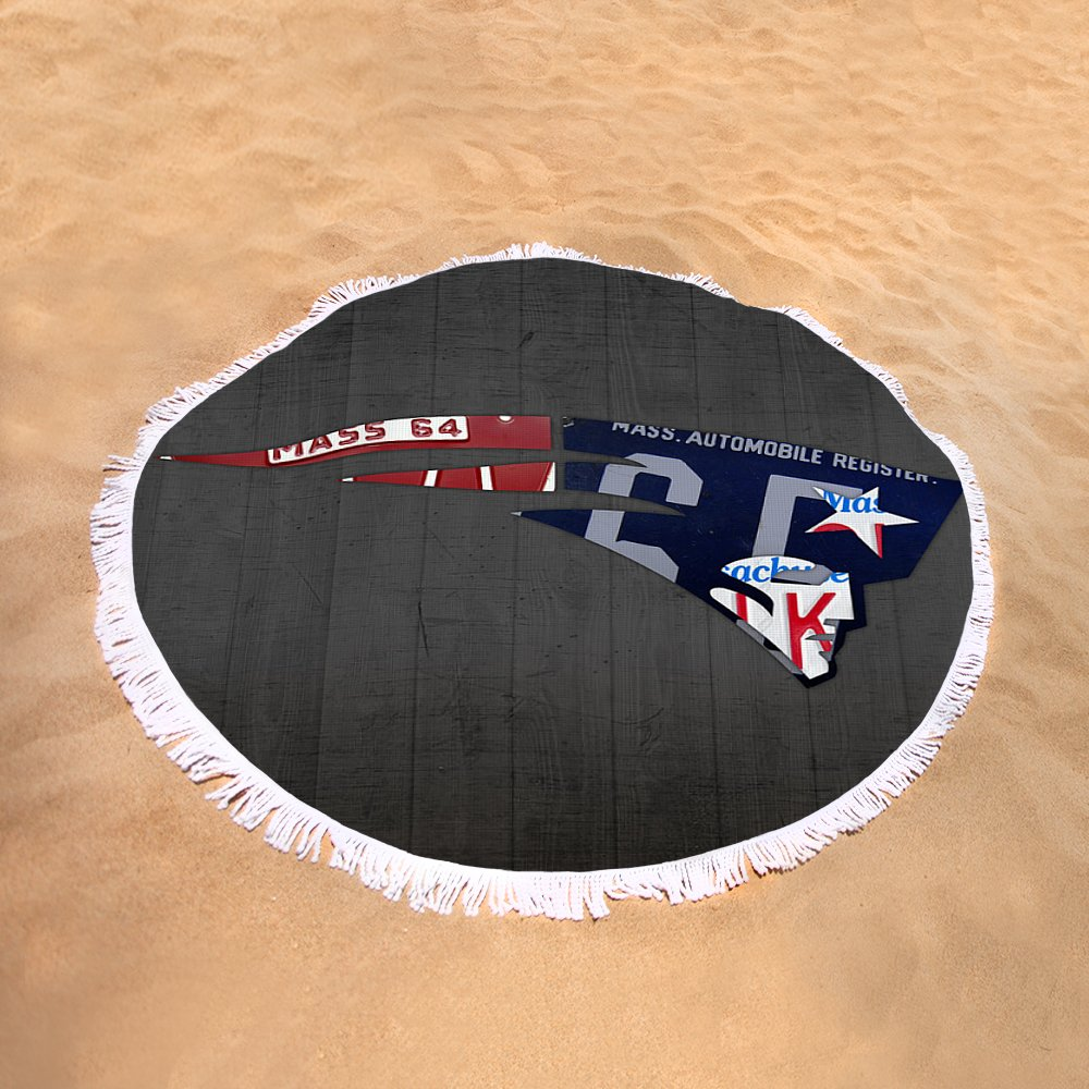 New England Patriots Football Team Retro Logo Massachusetts License
