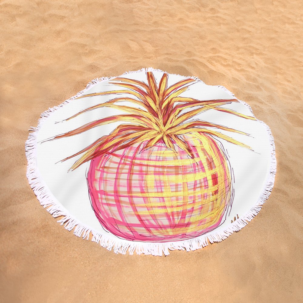 Chic Pink Metallic Gold Pineapple Fruit Wall Art Aroon Melane 2015 ...