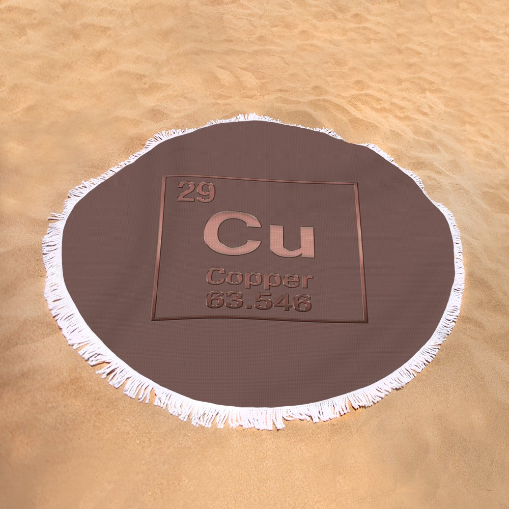 Periodic table of elements copper cu copper on copper round sand view gamestrikefo Choice Image