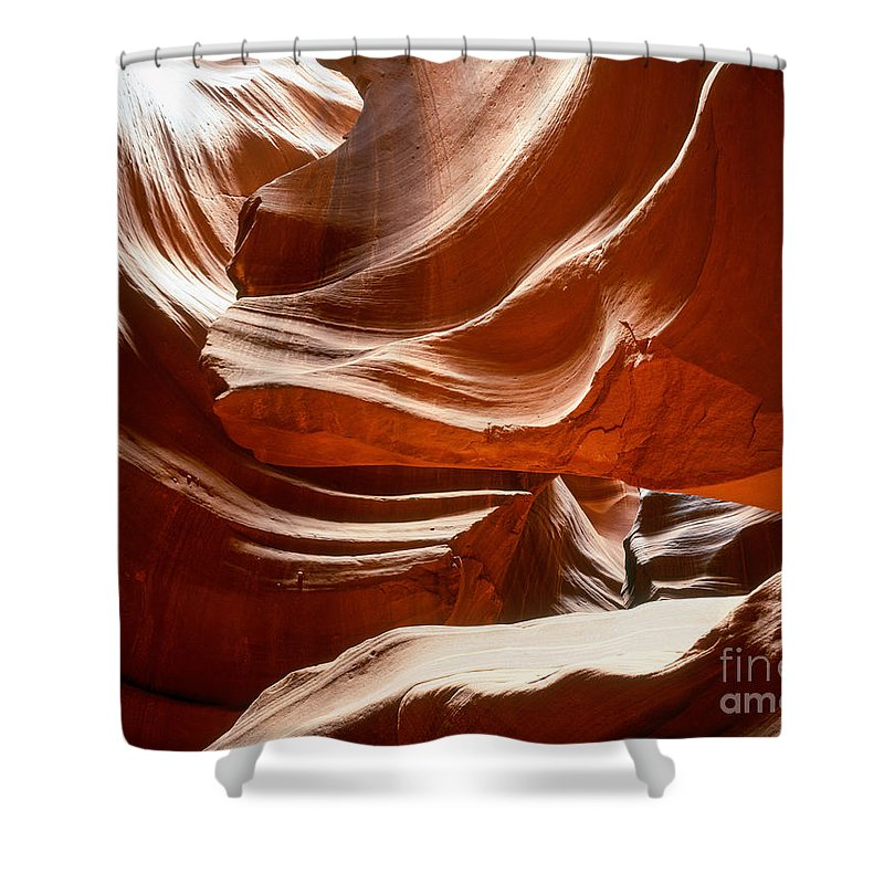 Arizona Shower Curtain featuring the photograph Antelope Slot Canyon by Tracy Knauer