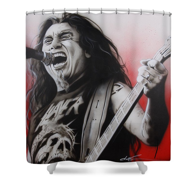 Portraits Shower Curtain featuring the painting Arhhhhhhhh by Christian Chapman Art