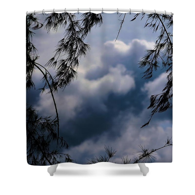 Michelle Meenawong Shower Curtain featuring the photograph Cloudy by Michelle Meenawong