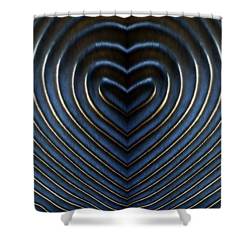 Light Shower Curtain featuring the digital art Contours 10 by Wendy Wilton