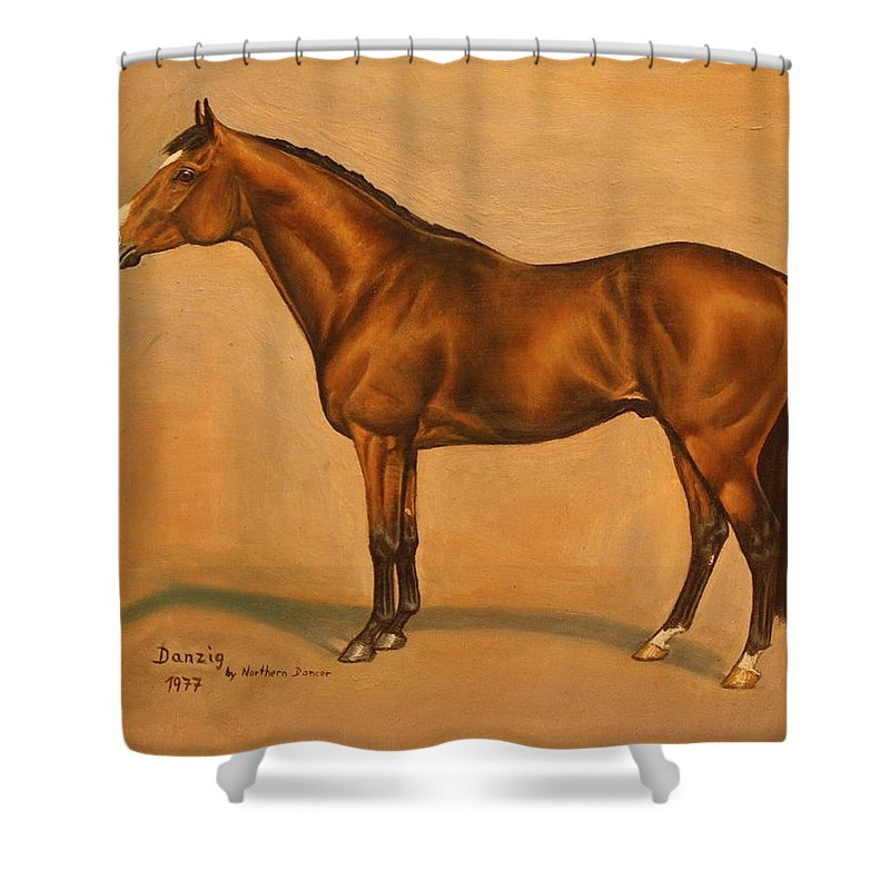 Champion Shower Curtain featuring the painting Danzig by Birgit Schnapp