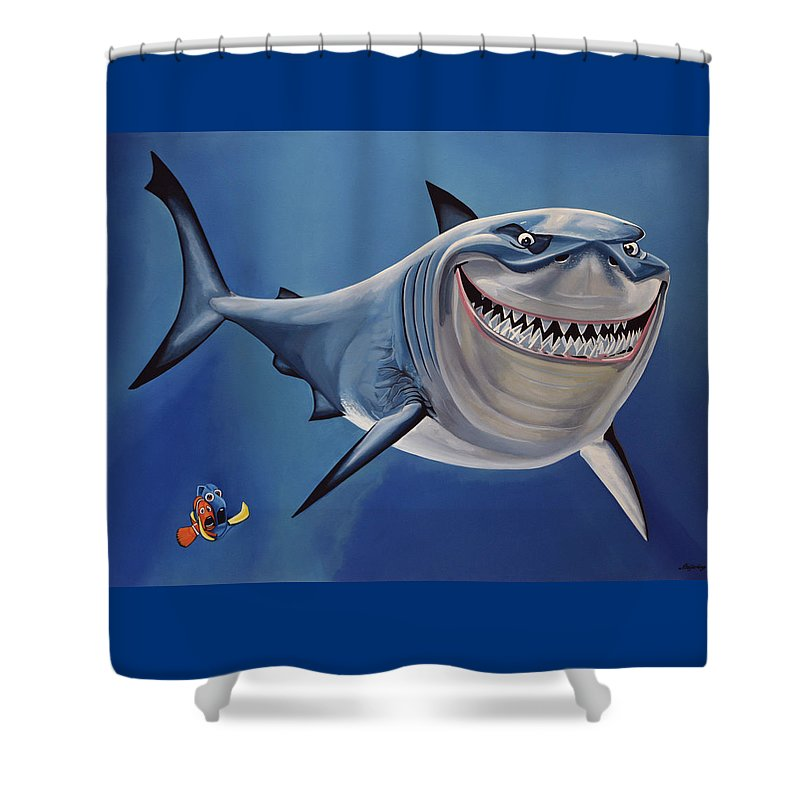 Finding Nemo Shower Curtain Featuring The Painting By Paul Meijering