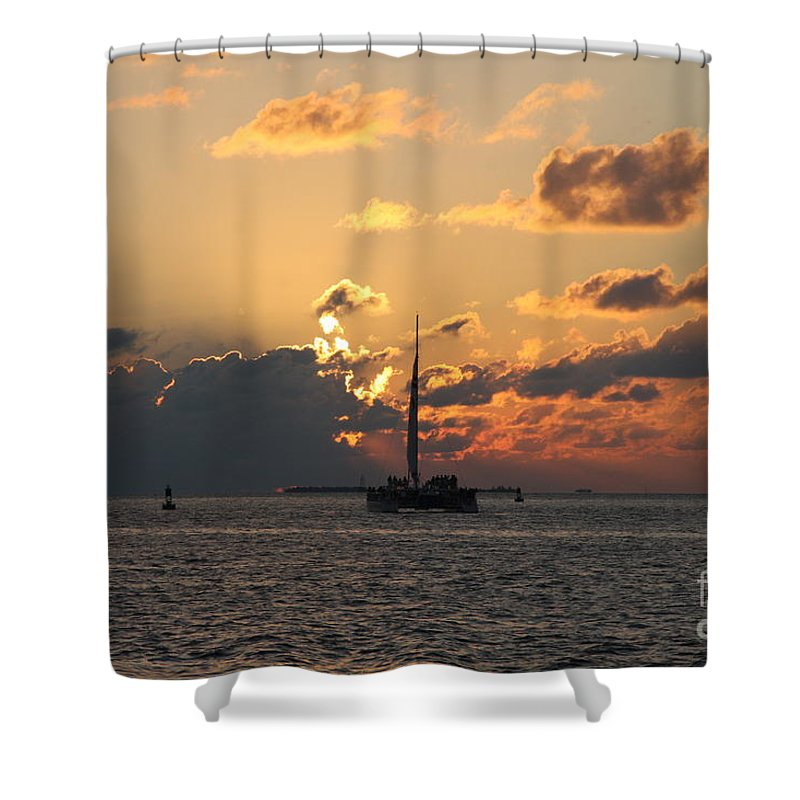 Sunset Shower Curtain featuring the photograph Marelous Key West Sunset by Christiane Schulze Art And Photography