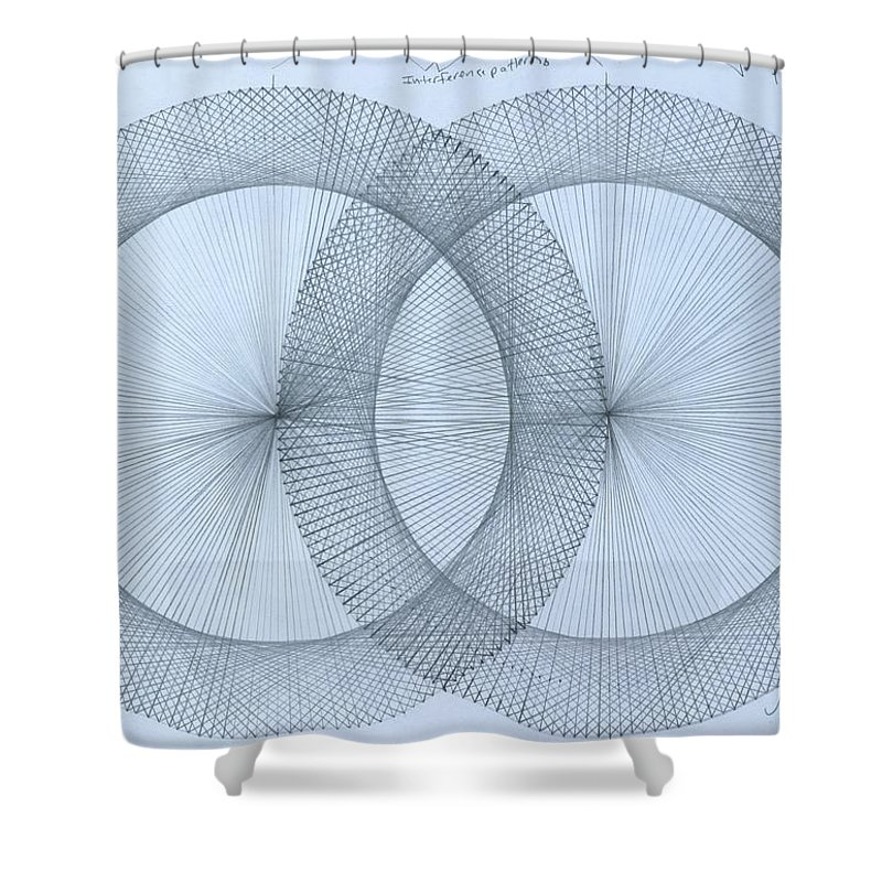 Fractal Shower Curtain featuring the drawing Magnetism by Jason Padgett