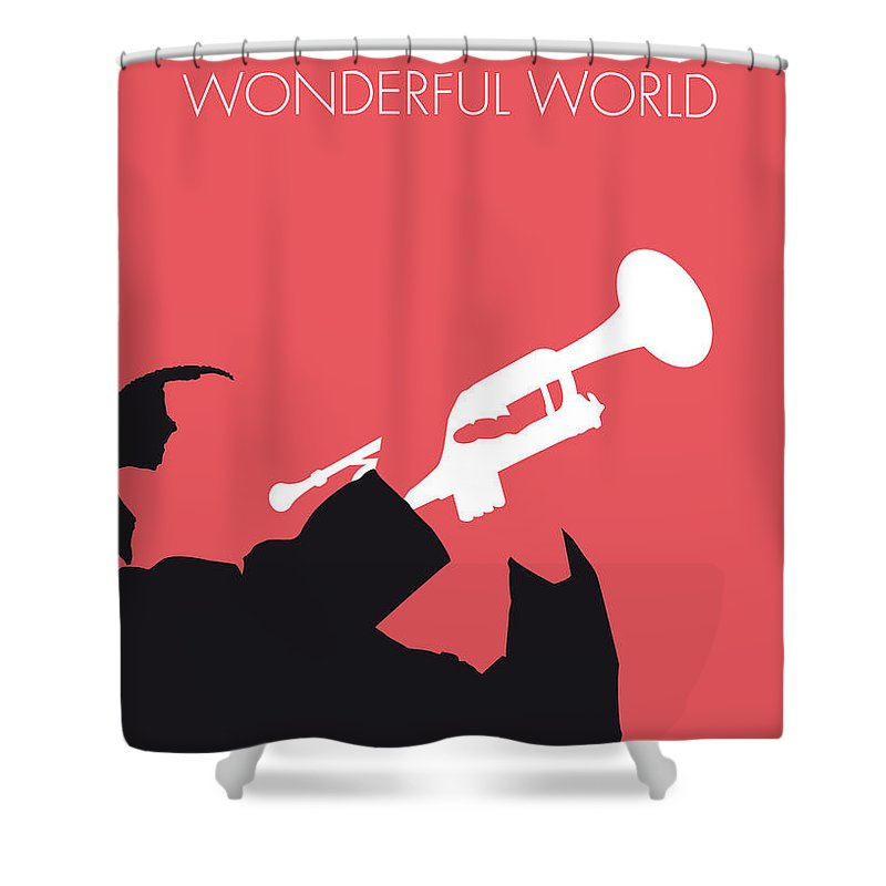 Louis Shower Curtain Featuring The Digital Art No012 My Armstrong Minimal Music Poster By Chungkong