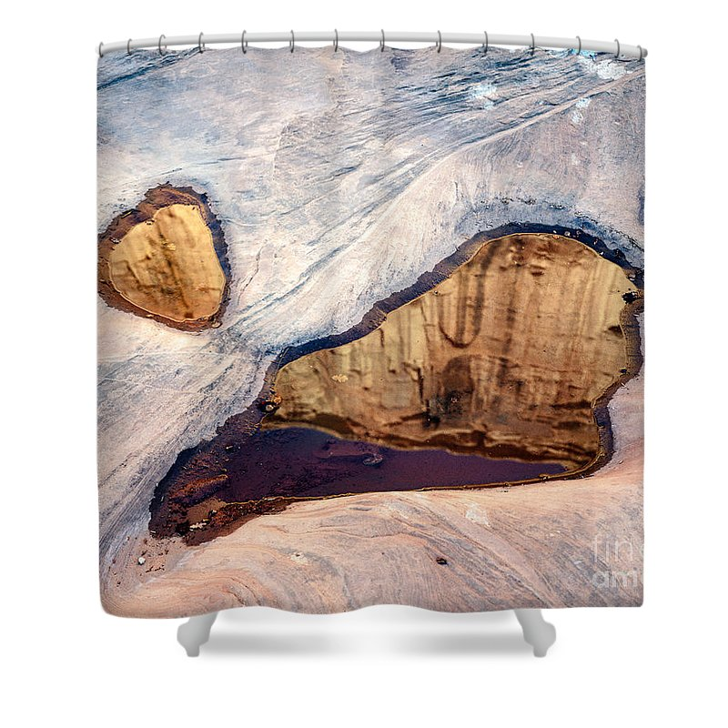 Arches National Park Shower Curtain featuring the photograph Park Avenue Potholes by Tracy Knauer