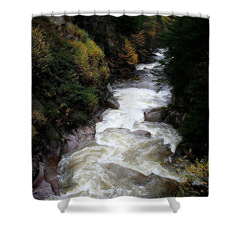 Franconia Notch Shower Curtain featuring the photograph Pemigewasset River White Mountains by Christiane Schulze Art And Photography