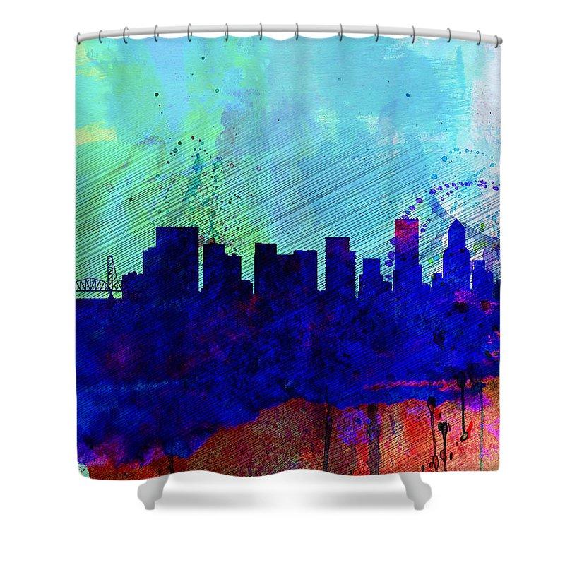 Portland Skyline Shower Curtains