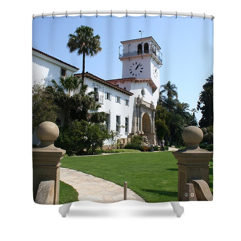 Courthouse Shower Curtain featuring the photograph Santa Barbara Courthouse by Christiane Schulze Art And Photography