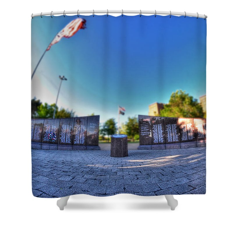 Memorial Shower Curtain featuring the photograph 001 We Will Not Forget At The Erie Basin Marina by Michael Frank Jr