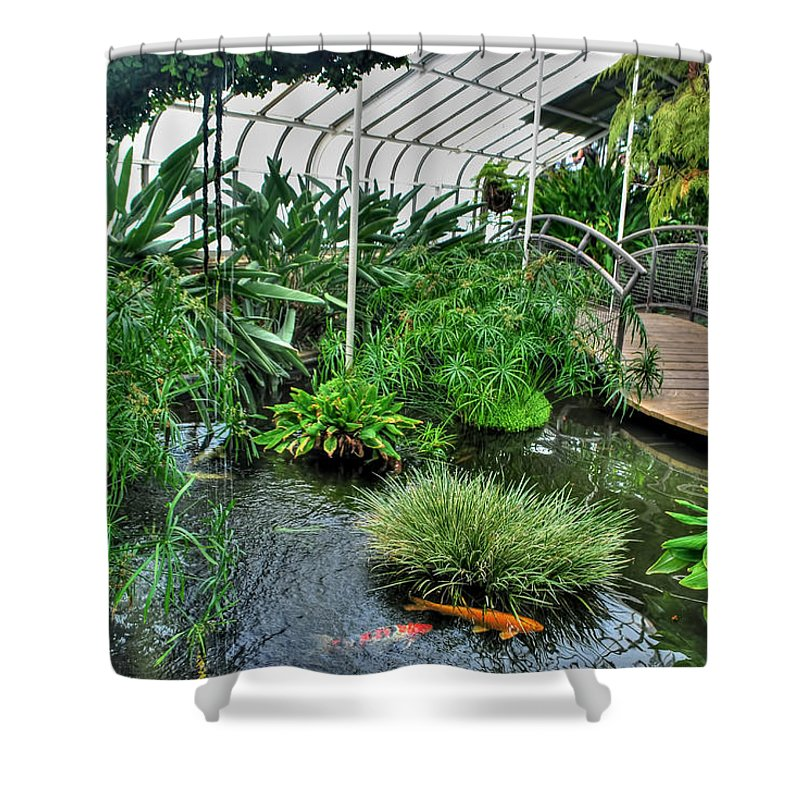 Buffalo Botanical Gardens Shower Curtain featuring the photograph 001 Within The Rain Forest Buffalo Botanical Gardens Series by Michael Frank Jr