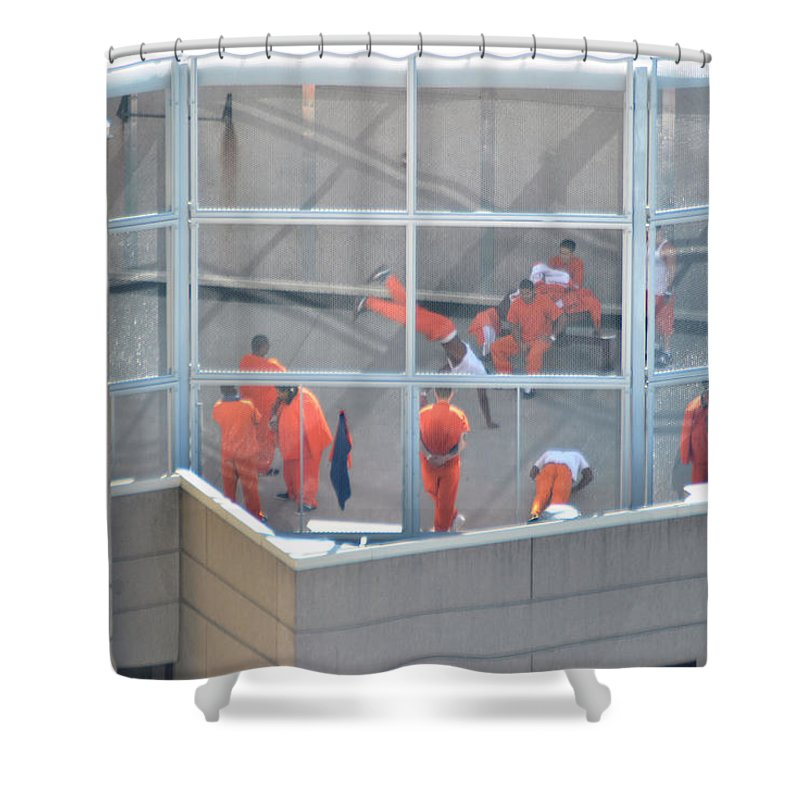 County Jail Shower Curtain featuring the photograph 002 Nothing But Time... by Michael Frank Jr