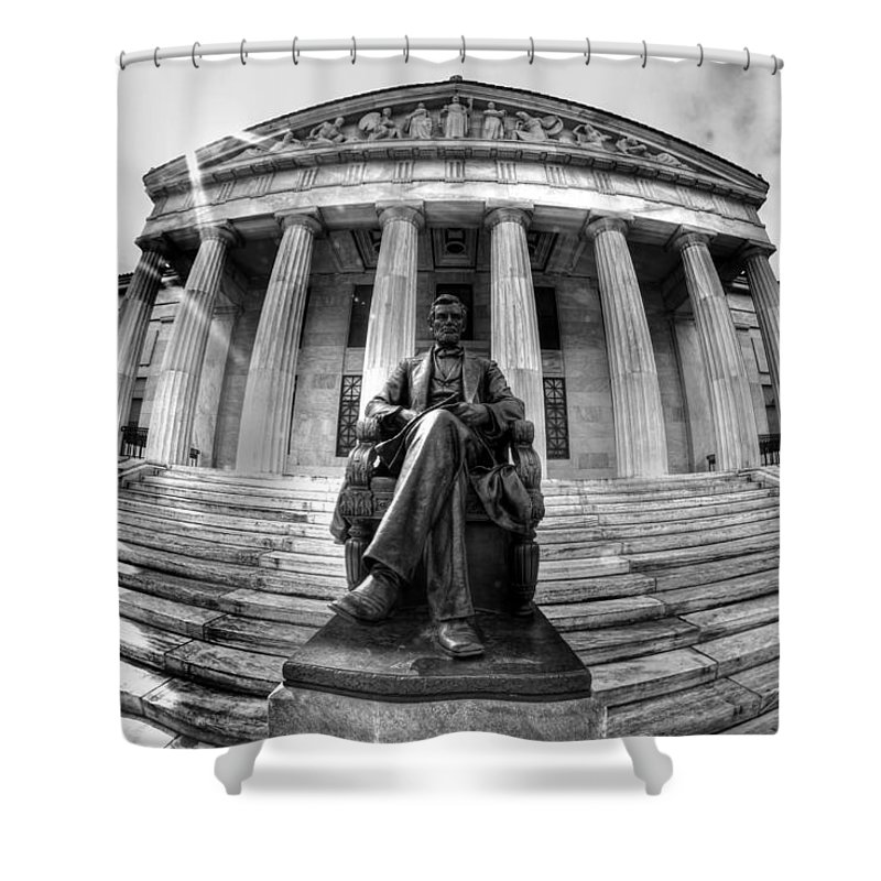Museum Shower Curtain featuring the photograph 004 Buffalo History Museum by Michael Frank Jr